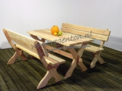 Picknickset Leontien naturel 180 cm