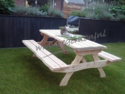 Picknicktafel Alexia xl 220 cm naturel