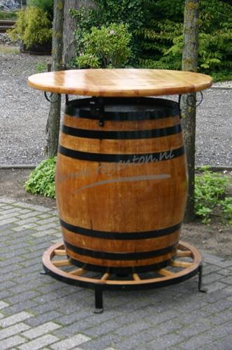 Bartafel blank met wagenwiel 250 l vat webshop - Vat stoel ...